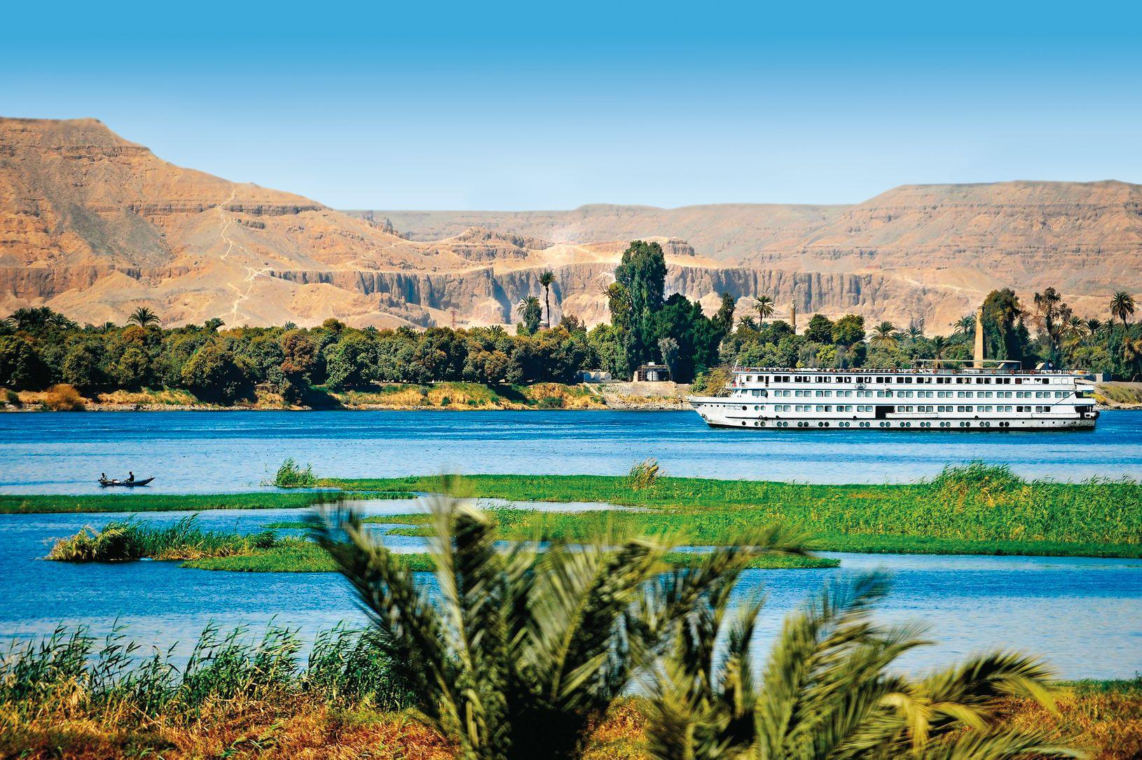 Premiumschiff auf dem Nil